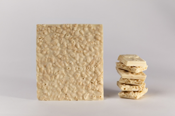 Tablette de chocolat blanc au riz soufflé