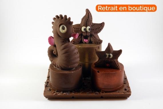 Podium en chocolat