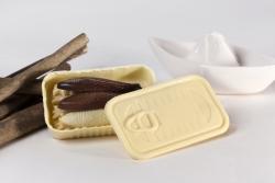 Chocolat blanc, chocolat blanc intérieur praliné à l'huile d'olive 1.6%