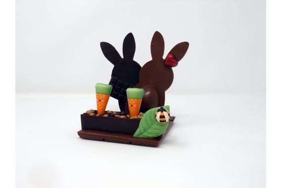 Duo de CHOC', lapins en chocolat