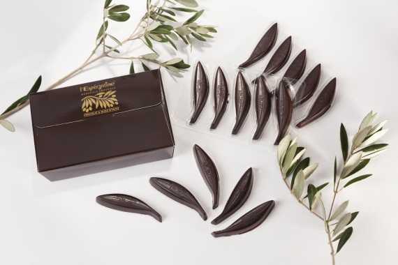 Bonbon de chocolat noir à l'huile d'olive