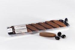 Chocolat au lait aux amandes et noisettes torréfiées, amandes enrobées de chocolat