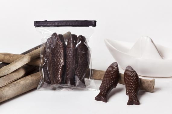 Chocolat noir intérieur praliné à l'huile d'olive 1.6%