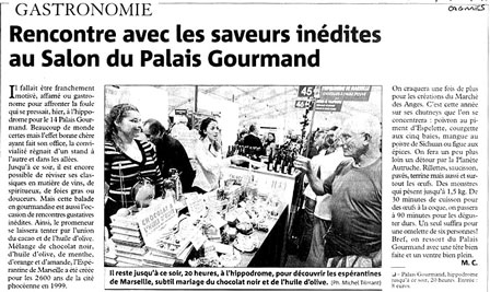 Salon palais gourmands cagnes
